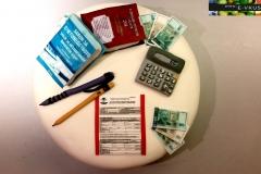 торта на счетоводна тематика