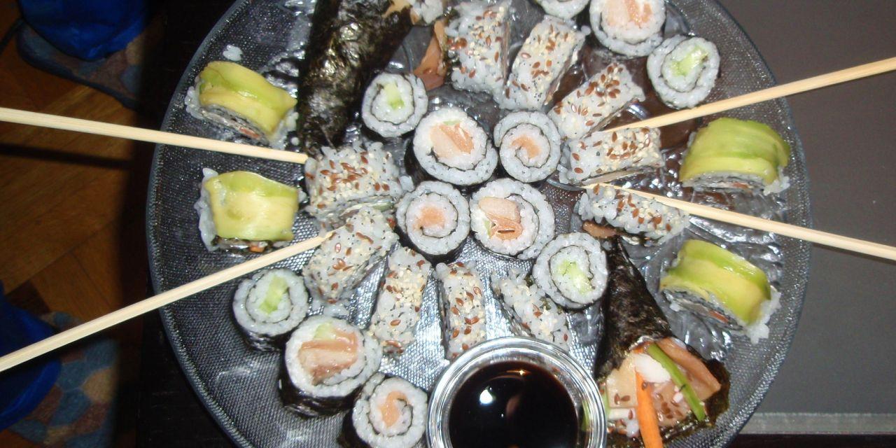Как да направим темаки суши