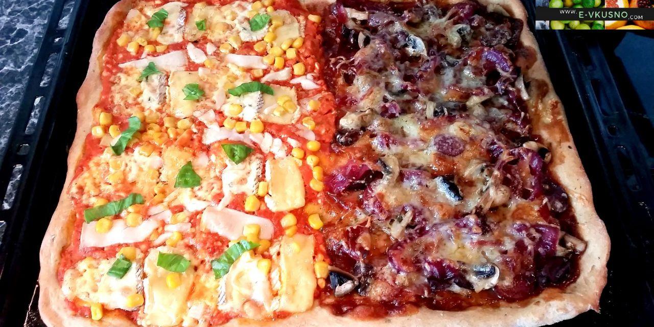 Тесто за пица с брашно от лимец